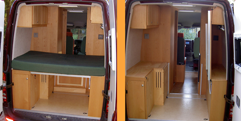 wohnmobil selbst ausbauen mercedes sprinter. Black Bedroom Furniture Sets. Home Design Ideas