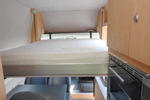 die verschiedenen schlafm glichkeiten im kastenwagen. Black Bedroom Furniture Sets. Home Design Ideas